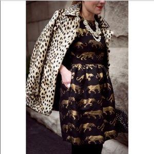 Anthropologie Eyedoll RARE Panthere Brocade Dress